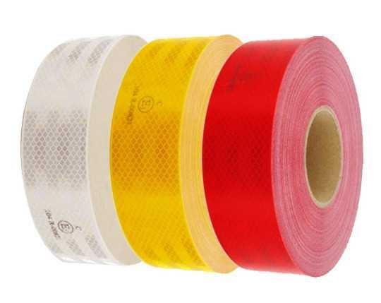 Reflexní páska červená, šíře 50mm