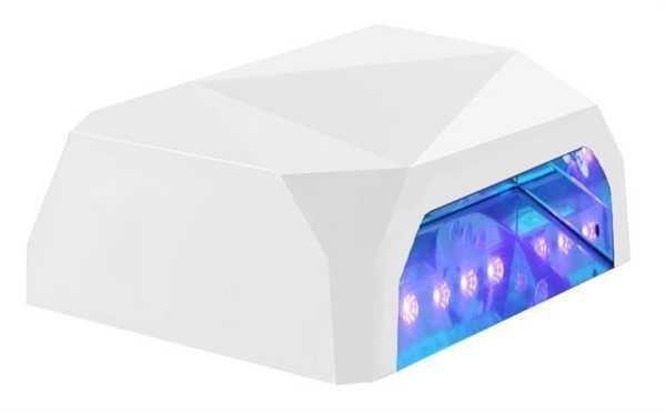 UV LED lampa na gelové nehty, bílá, vadná zářivka