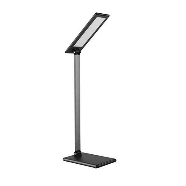 Stolní lampa LED stmívatelná šedá, 8W, LED diody SMD2835 72ks
