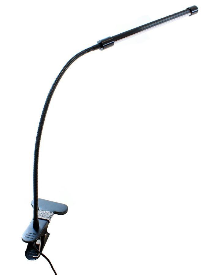LED stolní lampička s klipem černá, USB napájení