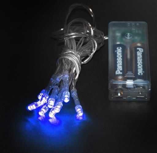 Vánoční osvětlení 10 x LED - modrá barva