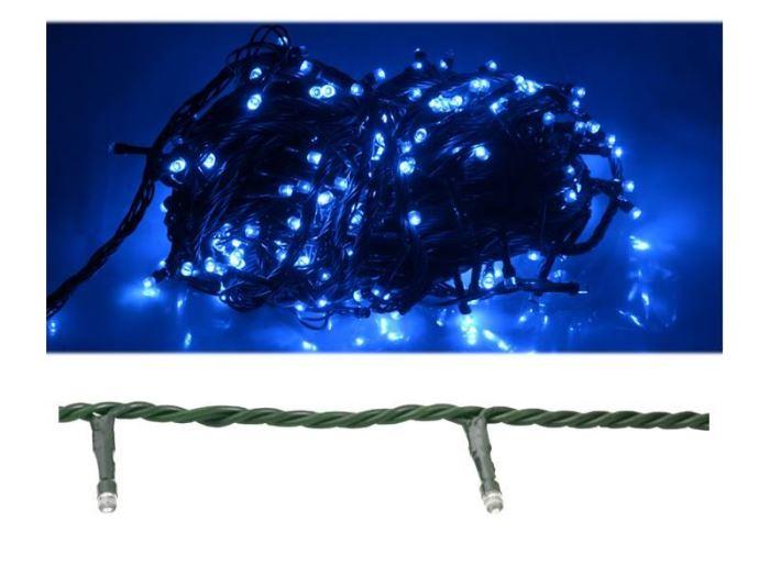 Vánoční osvětlení 100 x LED - modré, 10m, LTC