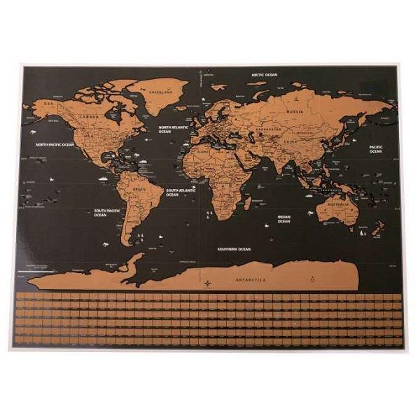 KIK Stírací mapa světa 40x30cm,KX 6984