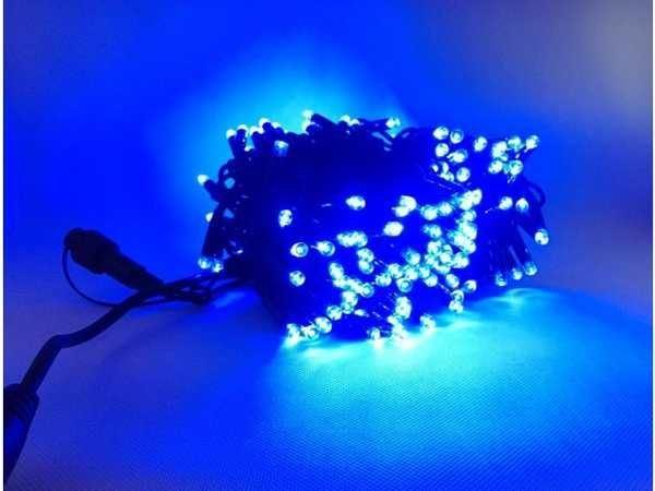 Vánoční osvětlení 200LED - modrá barva, venkovní použití