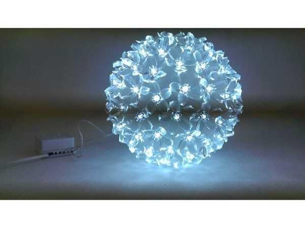 Vánoční osvětlení 100 LED světelná koule - studená bílá