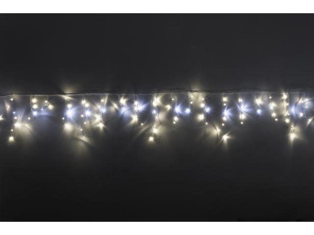 Vánoční osvětlení 100LED - teplá bilá barva, studená bílá blesk, závěs