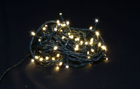 Vánoční osvětlení 100LED - bílé teplé, každá desátá bliká, venkovní