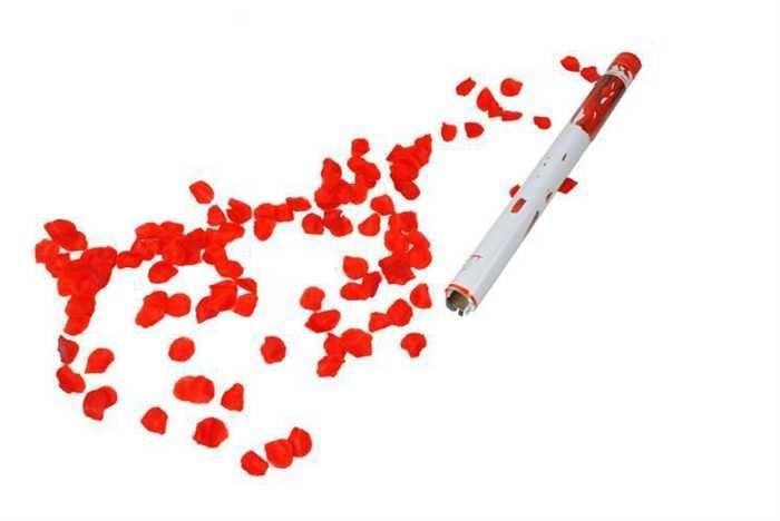 Vystřelovací konfety - plátky růží