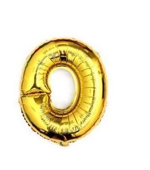 Balón foliové číslo- 0, cca 76cm, zlatý