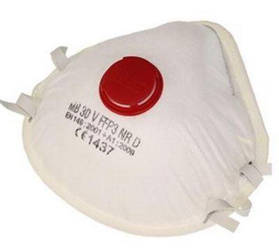 Ochranná maska-respirátor s výdechovým ventilem