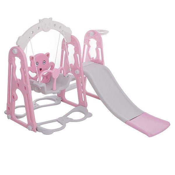 Dětské hřiště 3v1- růžová