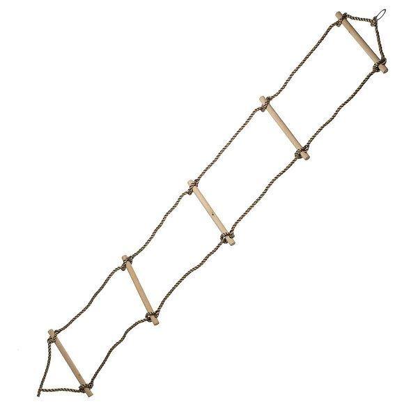Dřevěný provazový žebřík, 5 příček