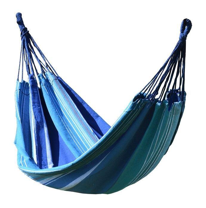 Cattara Textil Modrá Houpací síť 200x100cm modro-bílá