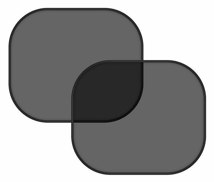 COMPASS Clona sluneční na boční okno černá 2 přísavky
