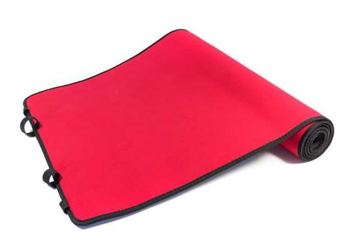 Podložka na cvičení černá+červená 180x60cm