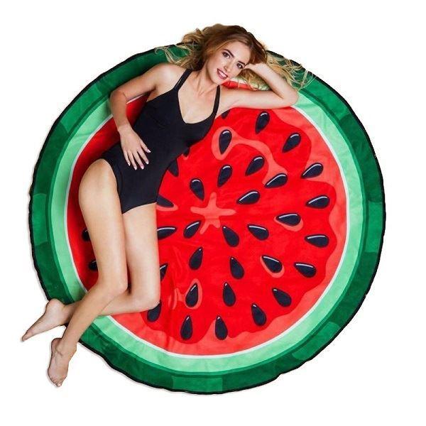 Rychleschnoucí plážová podložka průměr 135cm, meloun