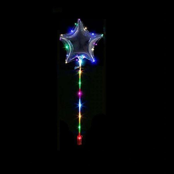 KIK LED Svítící balón hvězda 45 cm