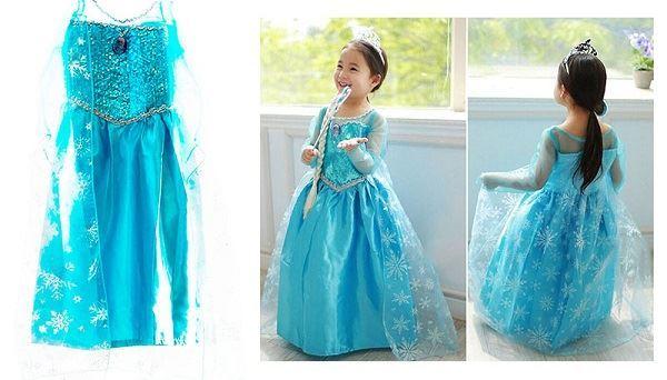 Elsa šaty kostým Frozen Ledové království ,130 cm