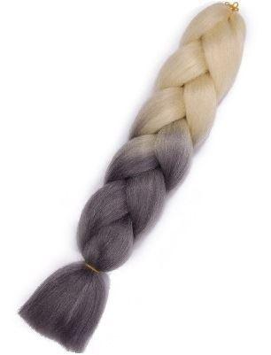 Vlasy syntetické Copánky ombre blond- černé