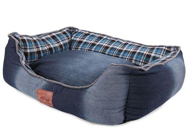 Pelíšek pro psa modrý / XL / 72cm x 56cm x 20cm