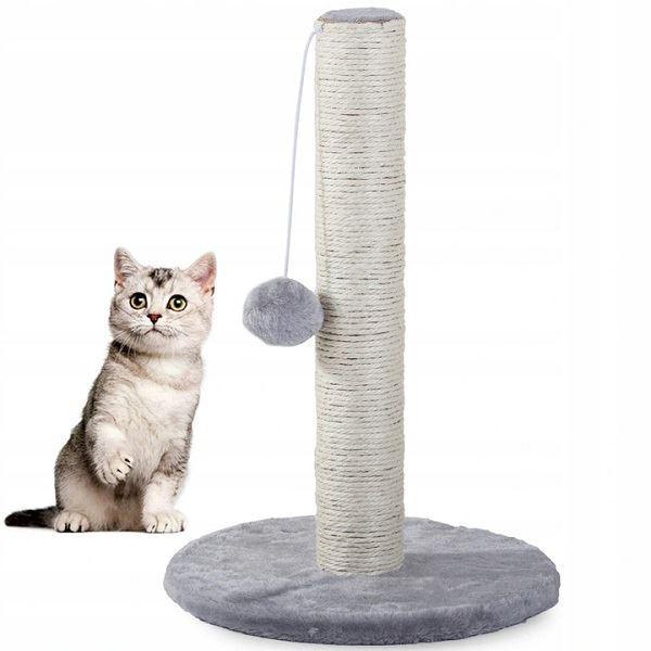Škrabadlo odpočívadlo pro kočky ,43cm,  šedé