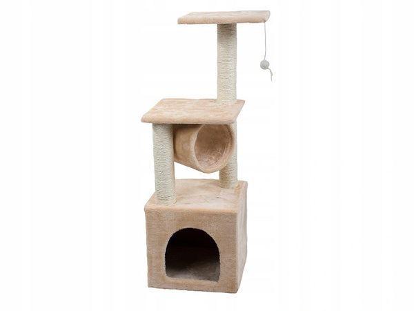 Škrabadlo odpočívadlo pro kočky 90cm,béžové