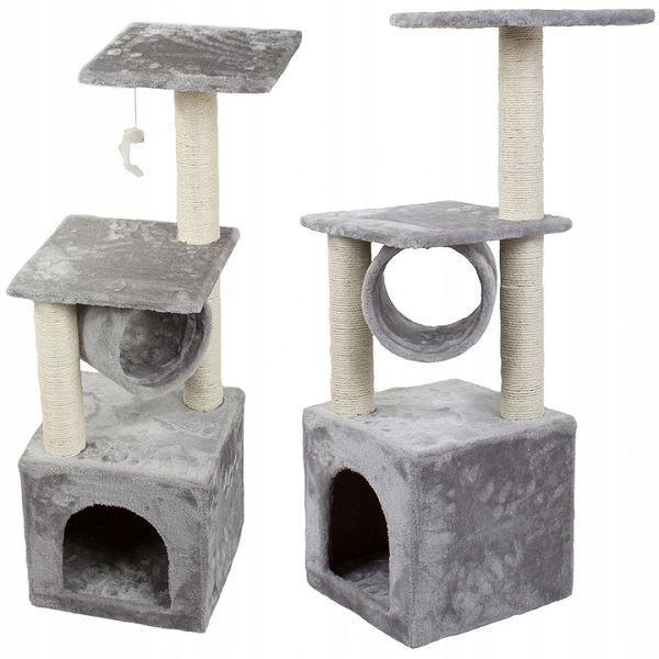 Škrabadlo odpočívadlo pro kočky 90cm,šedé