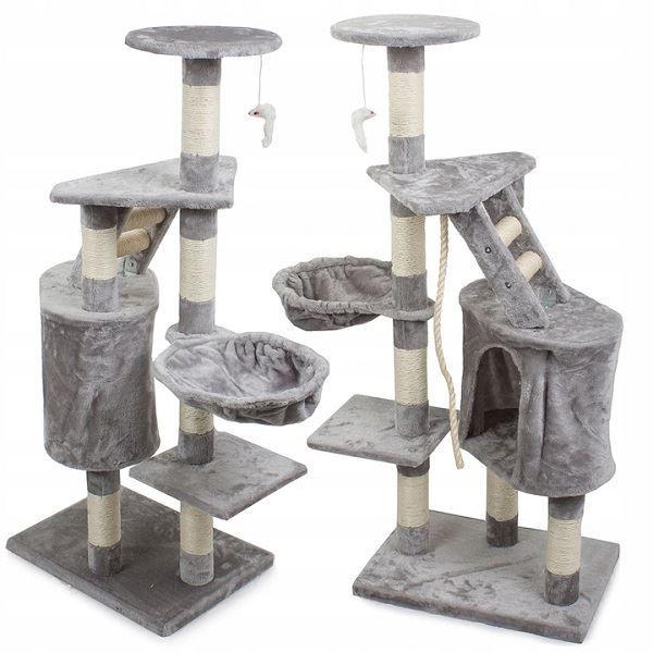 Škrabadlo odpočívadlo pro kočky 118cm,šedé