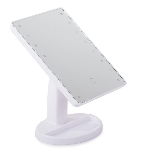 Kosmetické zrcátko jednoduché s LED osvětlením