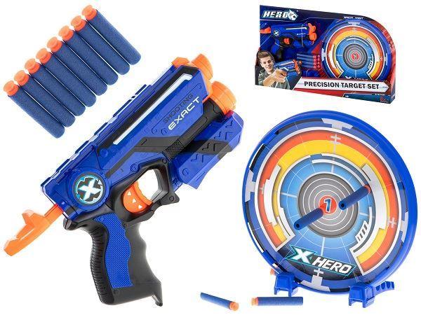 Dětská pistol Hero Nerf s terčem a 8 ks náboji