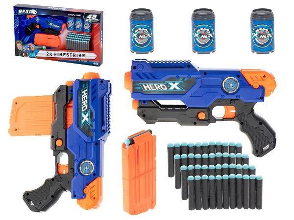 Dětská pistol Hero Nerf, 3 terče, 48 šipek