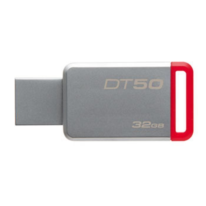 Kingston flashdisk 32GB Kingston USB 3.0 DT50 kovová červená