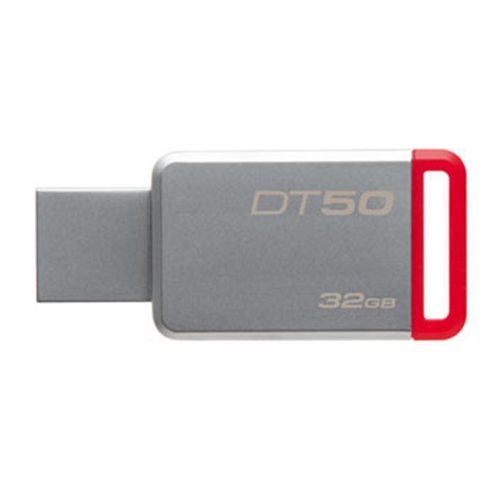 Kingston flashdisk 32GB Kingston USB 3.0 DT50 kovová červená