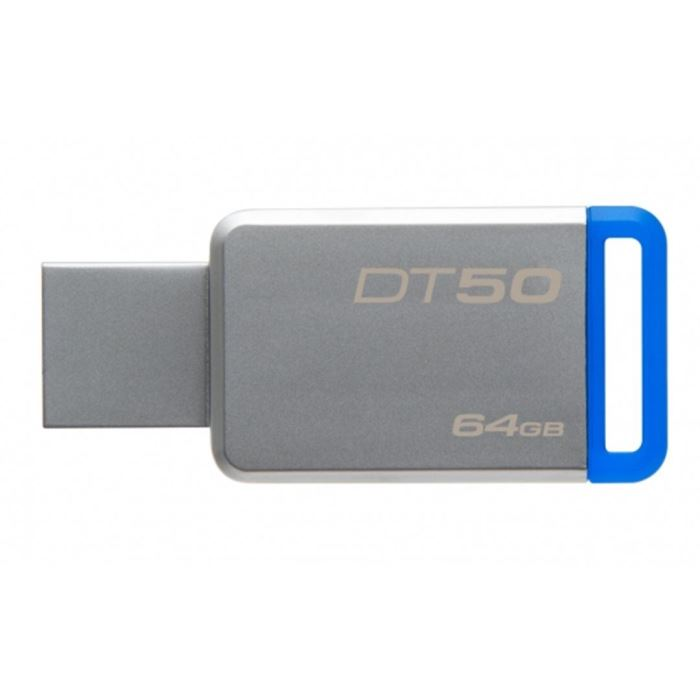 Kingston flashdisk 64GB Kingston USB 3.0 DT50 kovová modrá