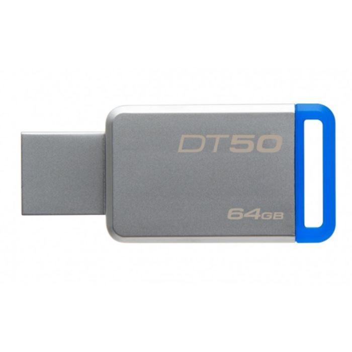 Kingston flashdisk 64GB Kingston USB 3.0 DT50 kovová modrá