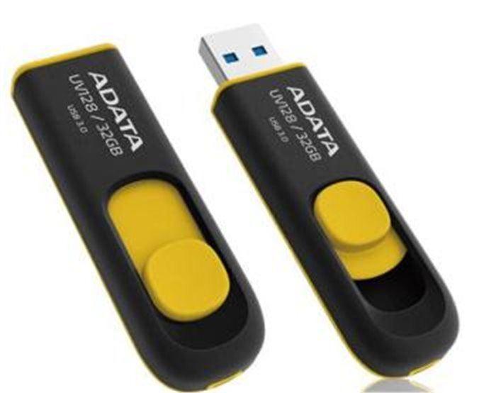 ADATA flashdisk USB UV128 32GB yellow(USB 3.0)