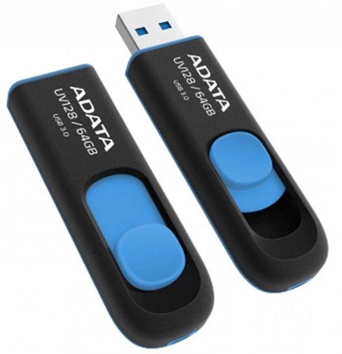 ADATA flashdisk USB UV128 64GB blue (USB 3.0)