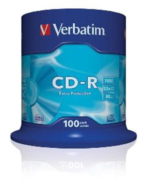 VERBATIM CD-R(100-Pack)Spindl/ExtraProtect/52x/700MB