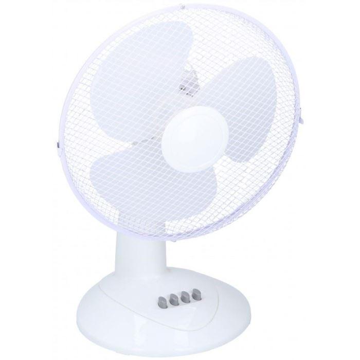 Cirkulační stolní ventilátor 30cm, bílý