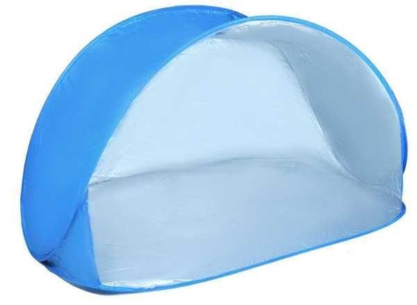 Skládací světle modrý plážový stan 220x120x100cm