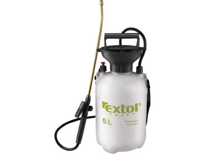 Postřikovač tlakový zahradní, mosazná tryska, 5l, EXTOL CRAFT, 92602