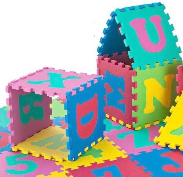 Pěnové puzzle 30x30cm, 36ks