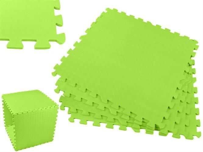 Pěnové puzzle 60x60cm, 4ks zelená