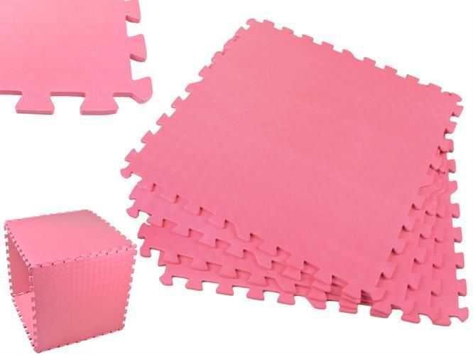 Pěnové puzzle 60x60cm, 4ks růžová