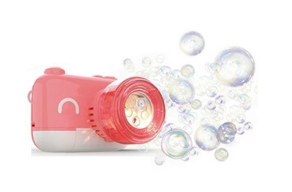 Dětský kouzelný fotoaparát na mýdlové bubliny, růžový