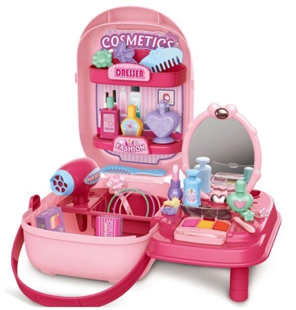 Kosmetická sada s toaletním stolečkem v kufru