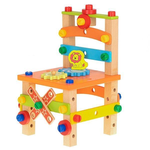 Dřevěná vzdělávací židlička