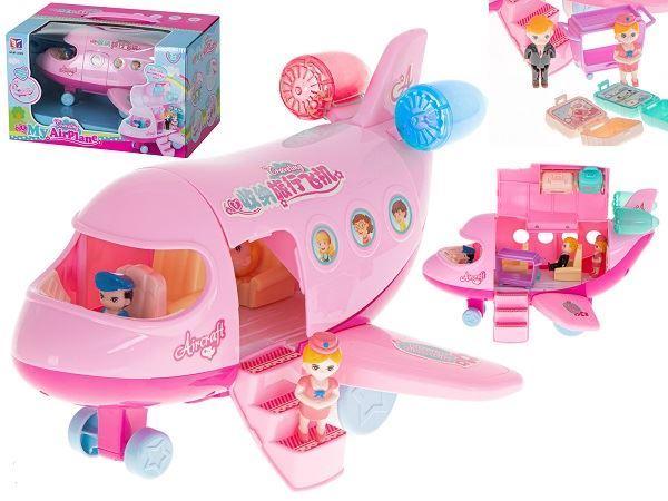 Růžové letadlo s příslušenstvím, škrábance na povrchu