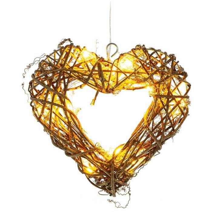 Vánoční  osvětlení RXL srdce ratan LED WW, RETLUX