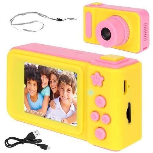 Dětský digitální fotoaparát 2GB růžovožlutá